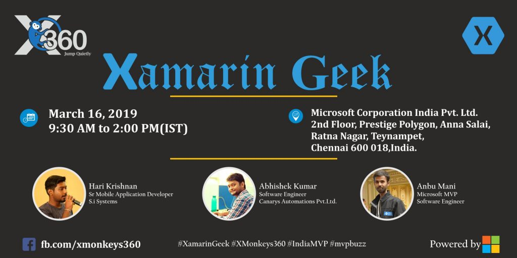 Xamarin Geek at Chennai-March 2019