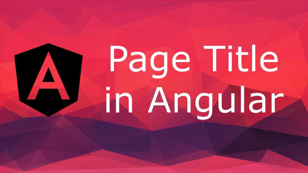 Implement Angular Page Title